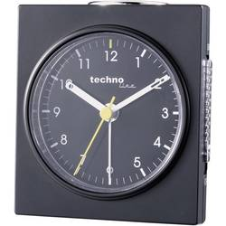 Kvarcna budilica, boja kućišta: crna, (mat) boja brojčanika: crna (Š x V x D) 76 x 85 x 47 mm Techno Line