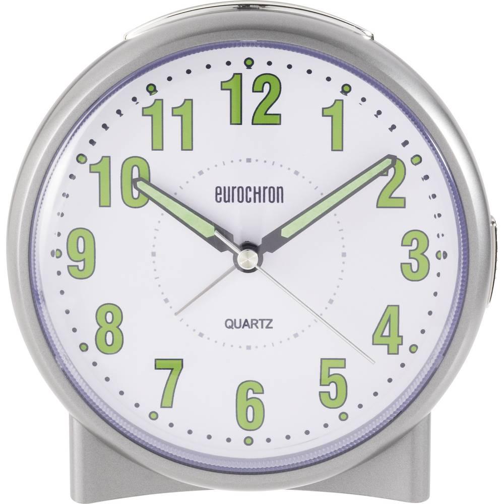 Namizna ura, barva ohišja: srebrna, barva številčnice: bela, Eurochron EQW-1000 (Š x V x G) 116 x 118 x 77 mm S139C2
