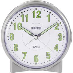 Väckarklocka Eurochron EQW-1000 (S139C2) Silver Urtavelfärg Vit (BxHxD) 57 x 57 x 34 mm