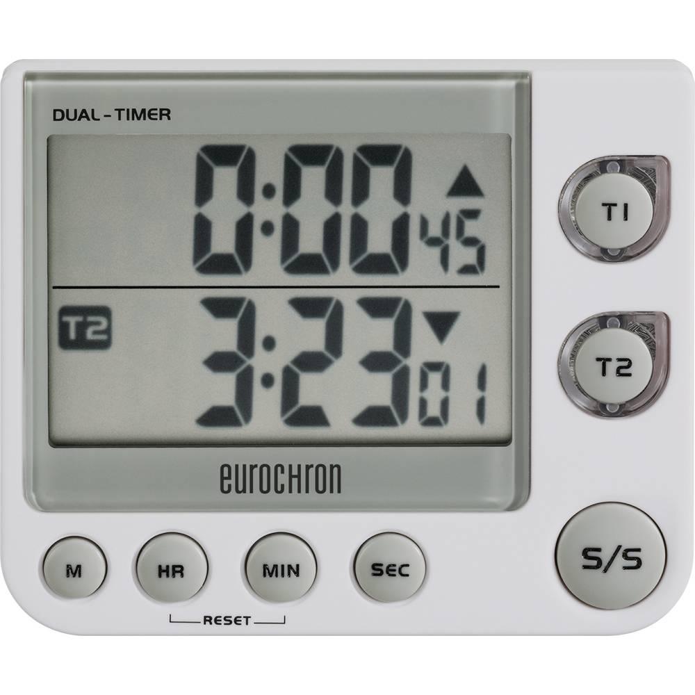 Eurochron 2-vrstični časomer EDT 4002 (D x Š x V) 21.5 x 90.5 x 76.5 mm bele barve