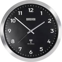 Radijski kontrolirani zidni sat Eurochron EFWU 2601 38 cm x 48 mm aluminijum (brušen)