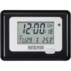 DCF Väckarklocka Eurochron HK 212 Svart/Silver Larmtider 1