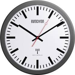 Radijski kontrolirani zidni sat Eurochron EFWU 3600 30 cm x 3.7 cm crne boje
