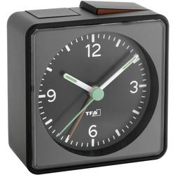 Kvarts Väckarklocka TFA 60.1013.01 Svart Larmtider 1 Flourescerande Visare