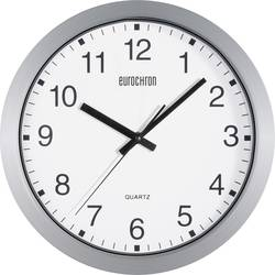 Zidni kvarčni sat Eurochron A3199 30.5 cm x 3.8 cm srebrne boje