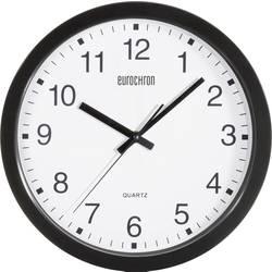 Zidni kvarčni sat Eurochron A3199 30.5 cm x 3.8 cm crne boje