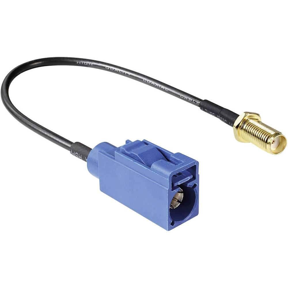 Antenski kabel, ženski konektor SMA za vgradnjo v ženski konektor FAKRA C, 0,2 m Delock