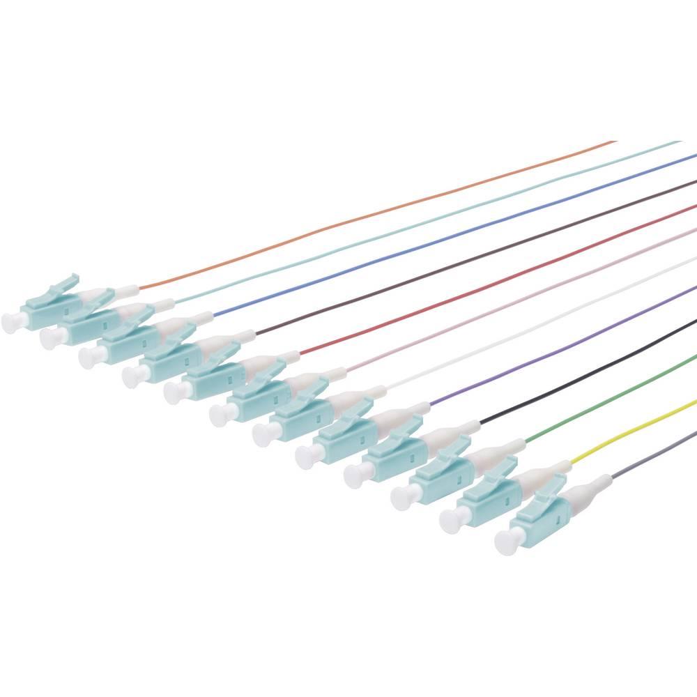 Optični priključni kabel [1x LC vtič - 1x odprti konec] 50/125µ Multimode OM3 2 m Digitus