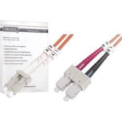 Optični priključni kabel [1x LC vtič - 1x SC vtič] 50/125µ Multimode OM2 3 m Digitus