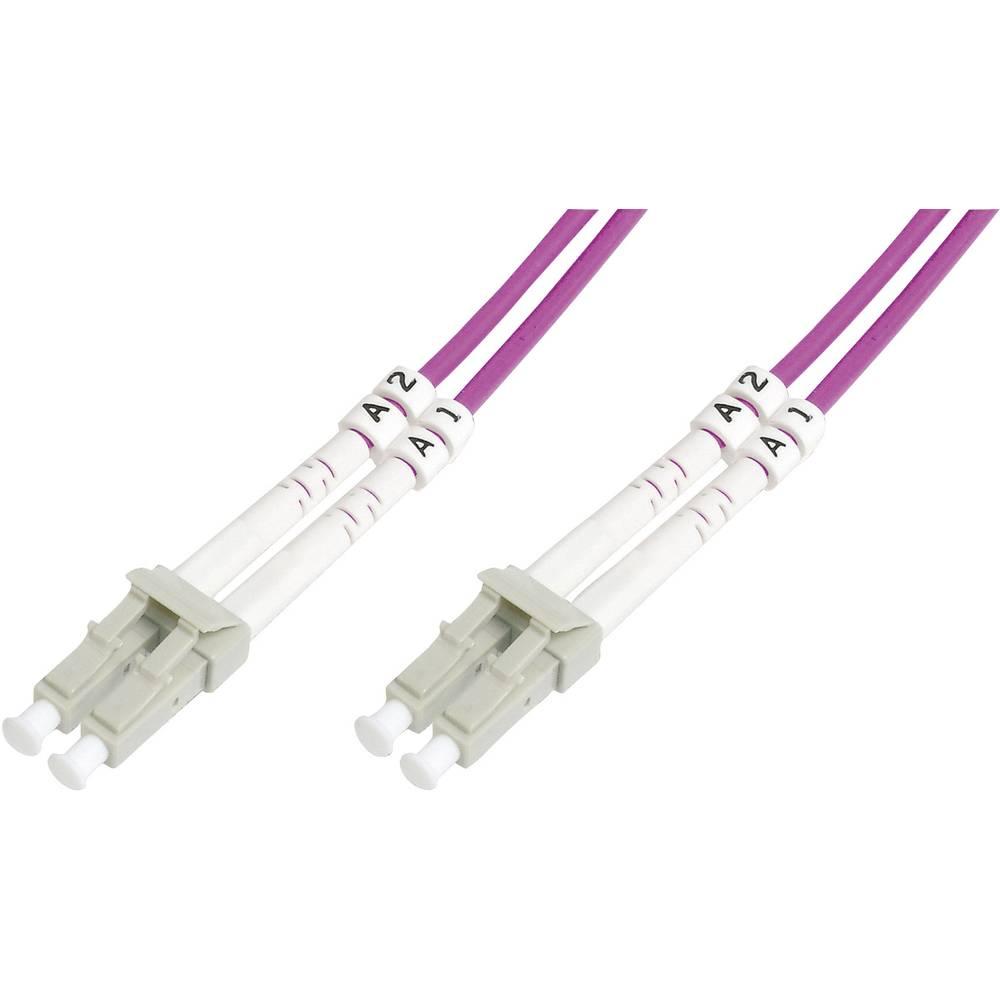 Optični priključni kabel [1x LC vtič - 1x LC vtič] 50/125µ Multimode OM4 5 m Digitus