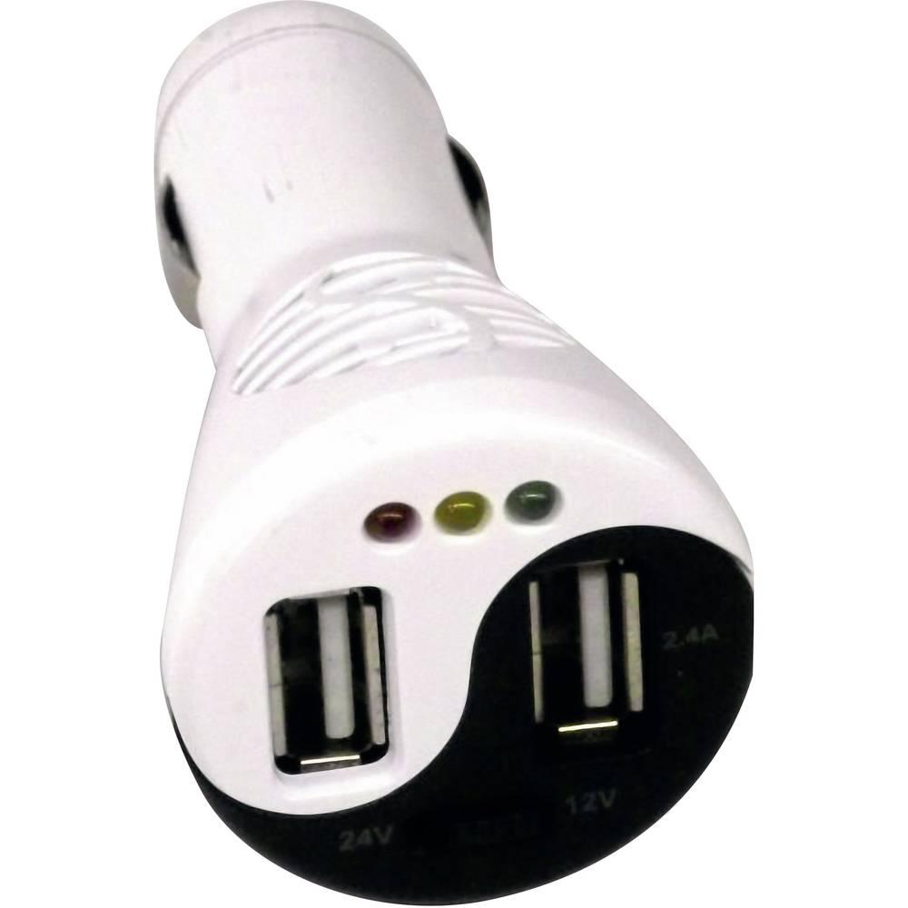 USB adapter za upaljač s testerom akuzmulatora Profi Power, maks. 3,4 A TP-15TC