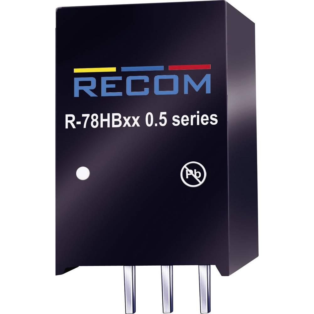 DC/DC pretvornik za tiskano vezje RECOM R-78HB15-0.5 72 V/DC 15 V/DC 0.5 A 7.5 W št. izhodov: 1 x