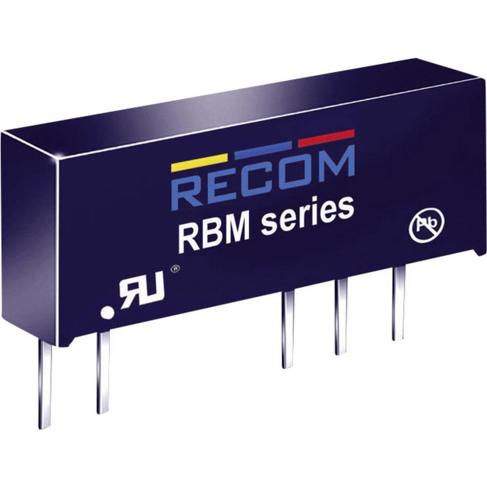 DC/DC pretvornik za tiskano vezje RECOM RBM-0505D 5 V/DC 5 V/DC, -5 V/DC 100 mA 1 W št. izhodov: 2 x