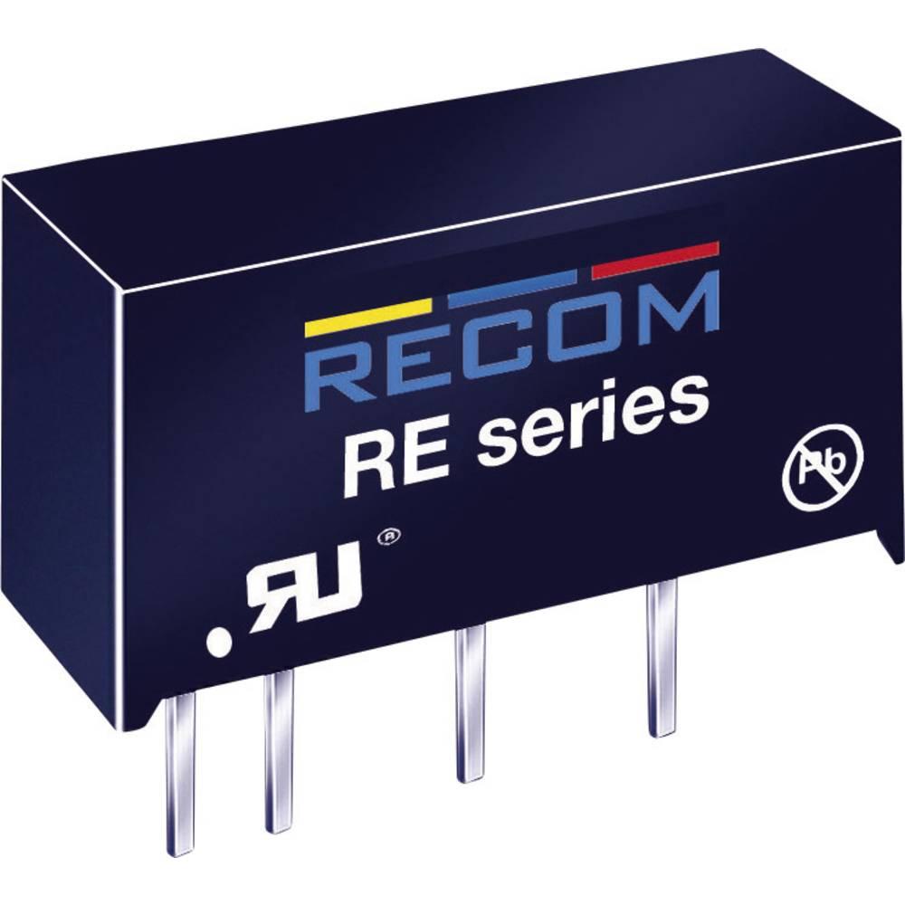 DC/DC pretvornik za tiskano vezje RECOM RE-2415S 24 V/DC 15 V/DC 66 mA 1 W št. izhodov: 1 x