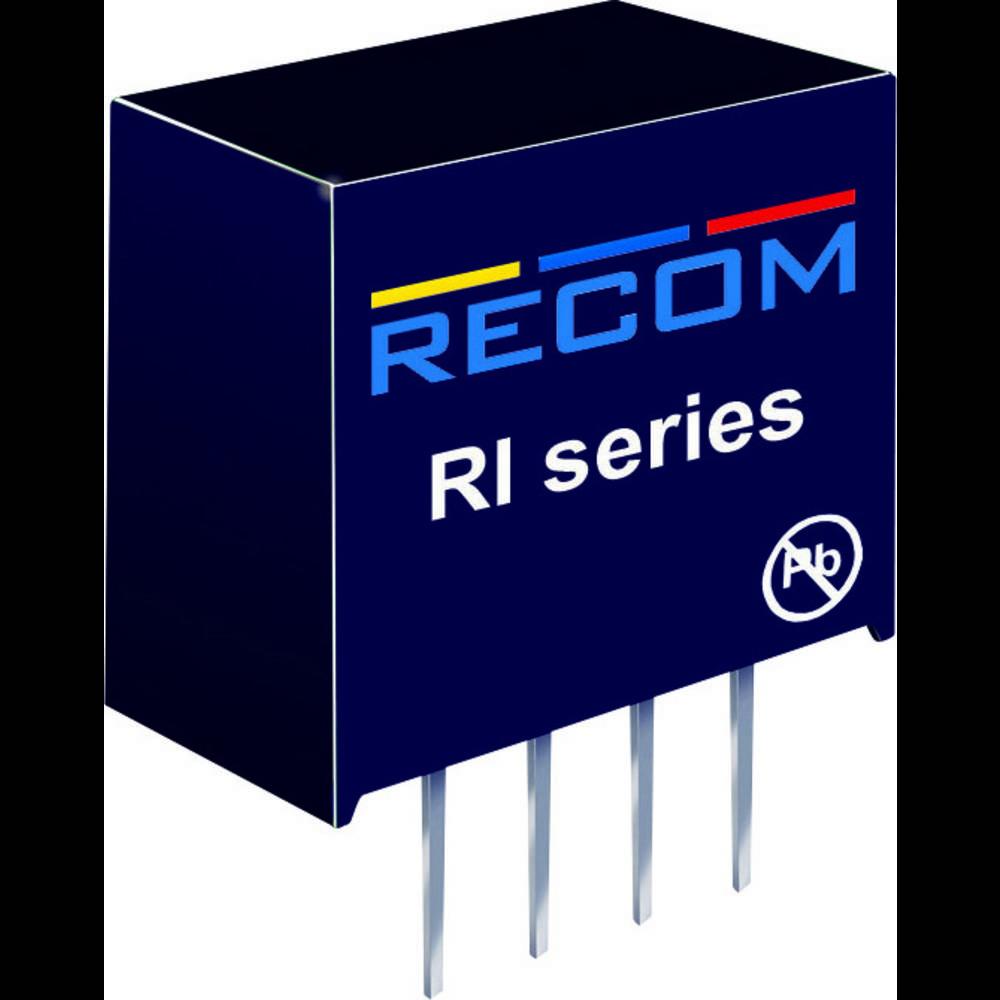 DC/DC pretvornik za tiskano vezje RECOM RI-2412S 24 V/DC 12 V/DC 168 mA 2 W št. izhodov: 1 x