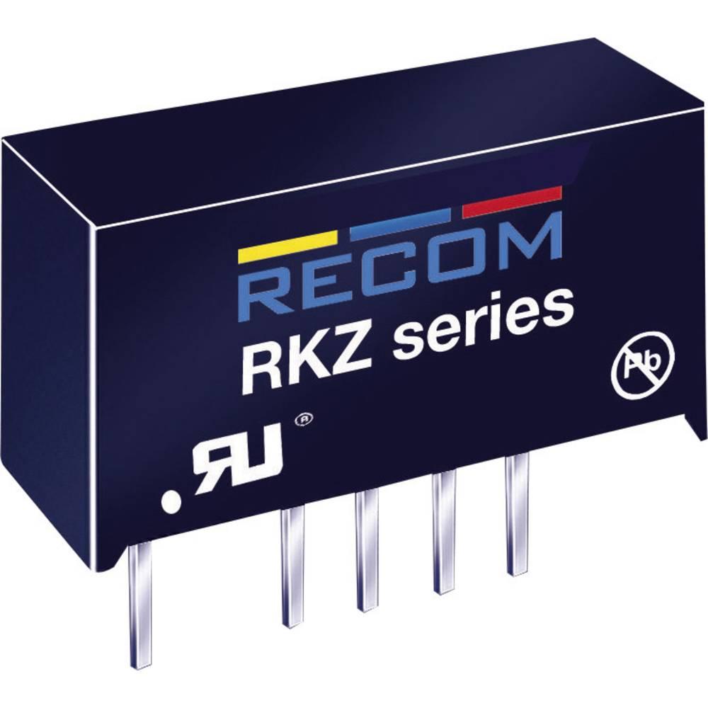 DC/DC pretvornik za tiskano vezje RECOM RKZ-1212S 12 V/DC 12 V/DC 168 mA 2 W št. izhodov: 1 x