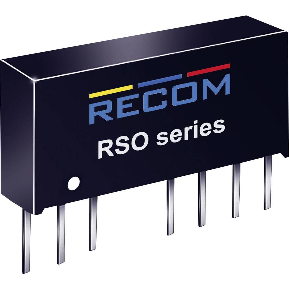 DC/DC pretvornik za tiskano vezje RECOM RSO-243.3S 24 V/DC 3.3 V/DC 300 mA 1 W št. izhodov: 1 x
