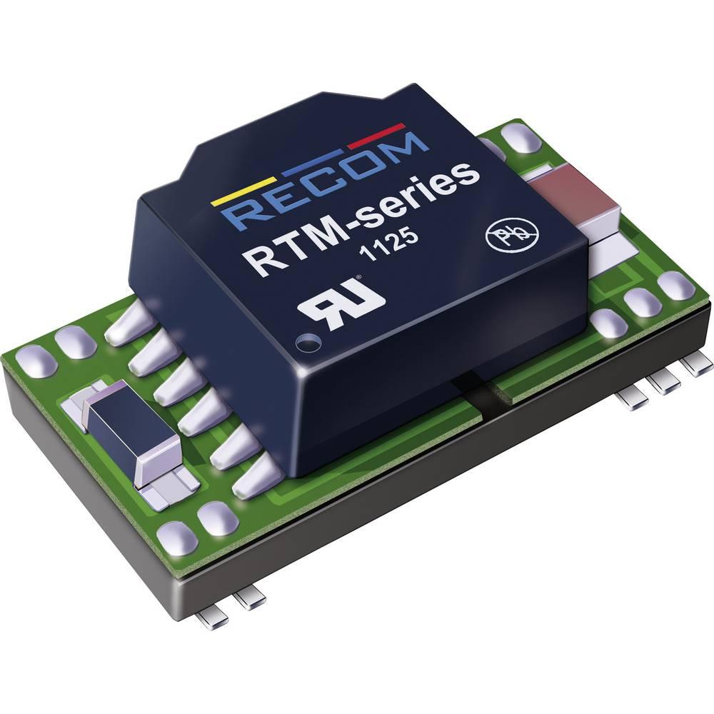 DC/DC pretvornik-modul RECOM RTM-1205S/H 12 V/DC 5 V/DC 400 mA 2 W št. izhodov: 1 x