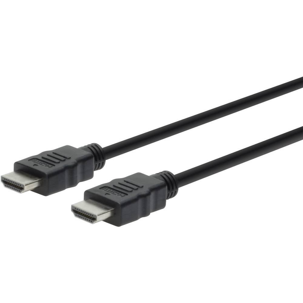 HS HDMI priključni kabel Digitus [1x HDMI-utikač  1x HDMI-utikač] 3m, crn, AK-330100-030-S