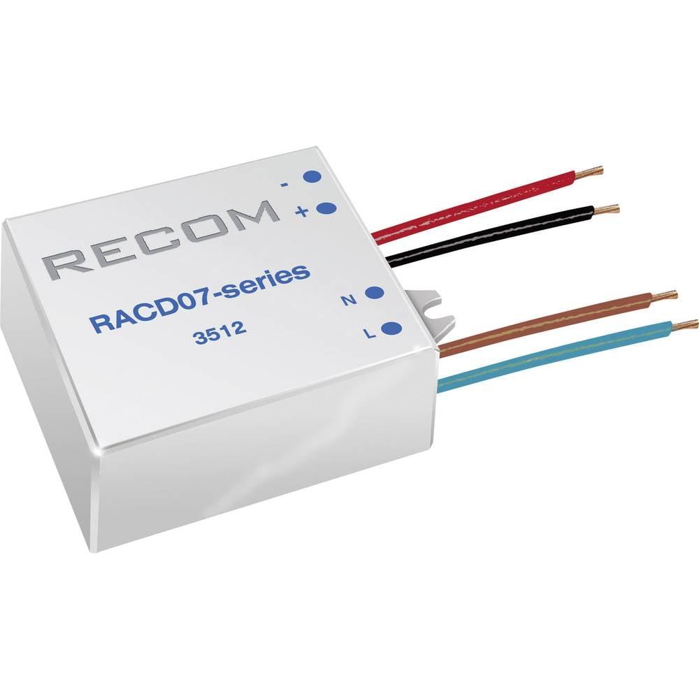 Konstant LED-strømkilde 7 W 350 mA 21 V/DC Recom Lighting RACD07-350 Driftsspænding maks.: 264 V/AC