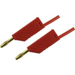 Mätledning[Laminerade stickdon 4 mm -Laminerade stickdon 4 mm ] 0.5 m;Röd;SKS Hirschmann;MLN 50/2,5 RT