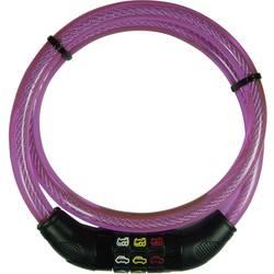 Kabelska ključavnica za kolo Security Plus, s simboli, rozabarve, oprema za kolo CSL80Pink