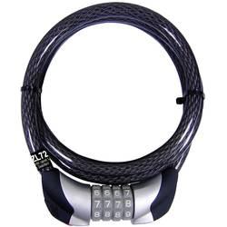 Kodna kabelska ključavnica zakolo Security Plus ZL 72, črne barve, oprema za kolo ZL72