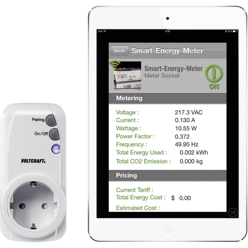 Merilnik stroškov energije VOLTCRAFT SEM-3600BT Bluetooth®-vmesnik, grafični prikaz, internetna povezava