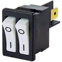 Vippströmbrytare 250 V/AC 10 A 2x Av/På Arcolectric H880TVAAAB låsande 1 st