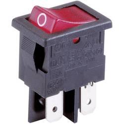 Vippströmbrytare 230 V/AC 10 A 2x Av/På Arcolectric H 8553 VB NAG låsande 1 st