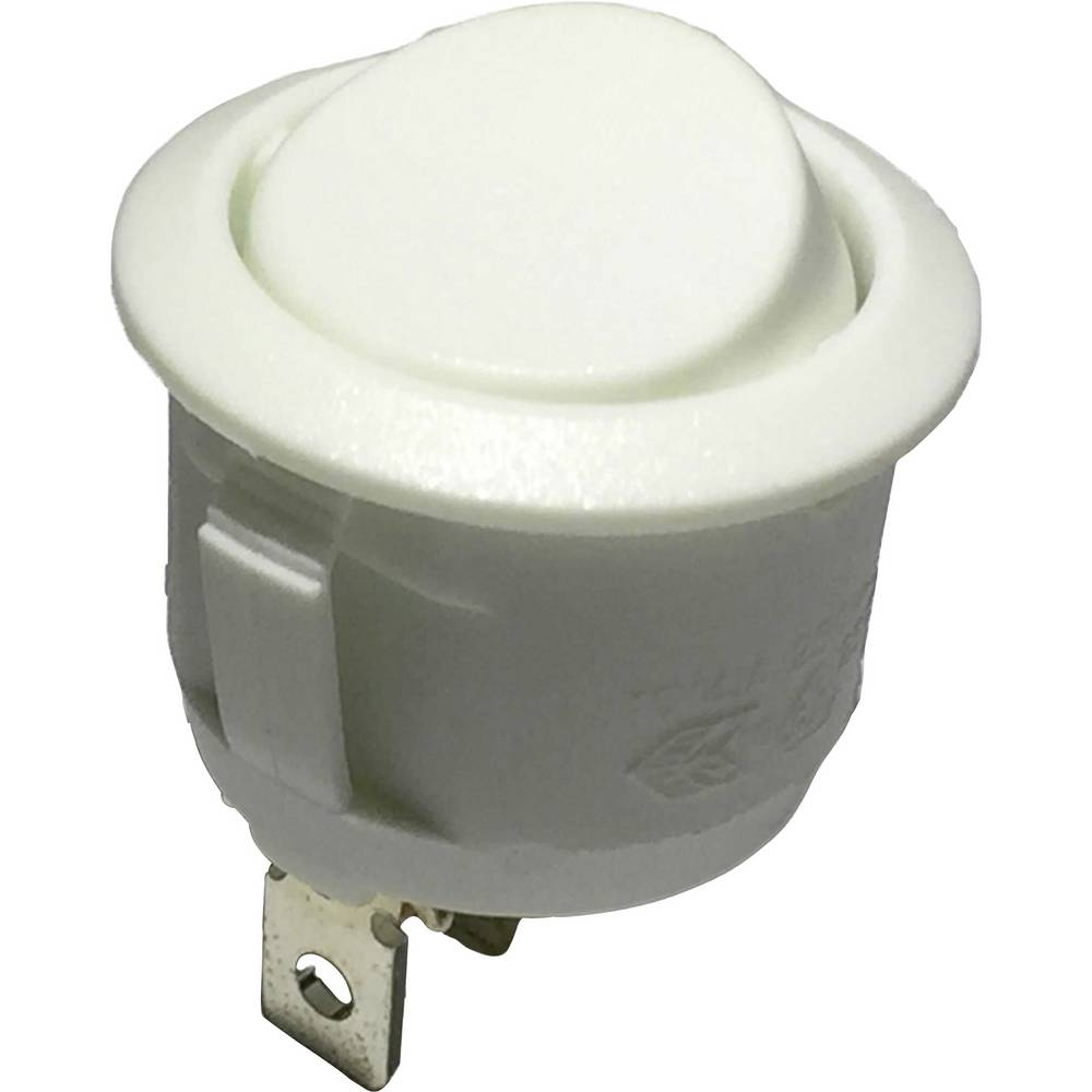 klecno stikalo, okroglo R13-112C W/W NO MARK 1-polni vklop/izklop 250 V/AC 6 A