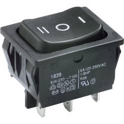 Vippströmbrytare 250 V/AC 6 A 2x På/Av/På Marquardt 1839.1507 IP40 låsande/0/låsande 1 st