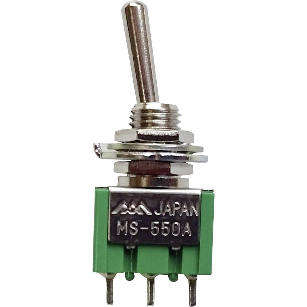 Minijaturna prevjesna sklopka250 V/AC 1, 5 A MS-550A-B 1 x uklop/uklop