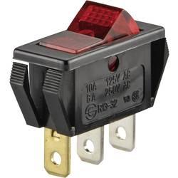 Klecno stikalo R13-32B-01 rdeče SCI 1 x vklop/izklop zaskočno/zaskočno 250 V/AC 6 A