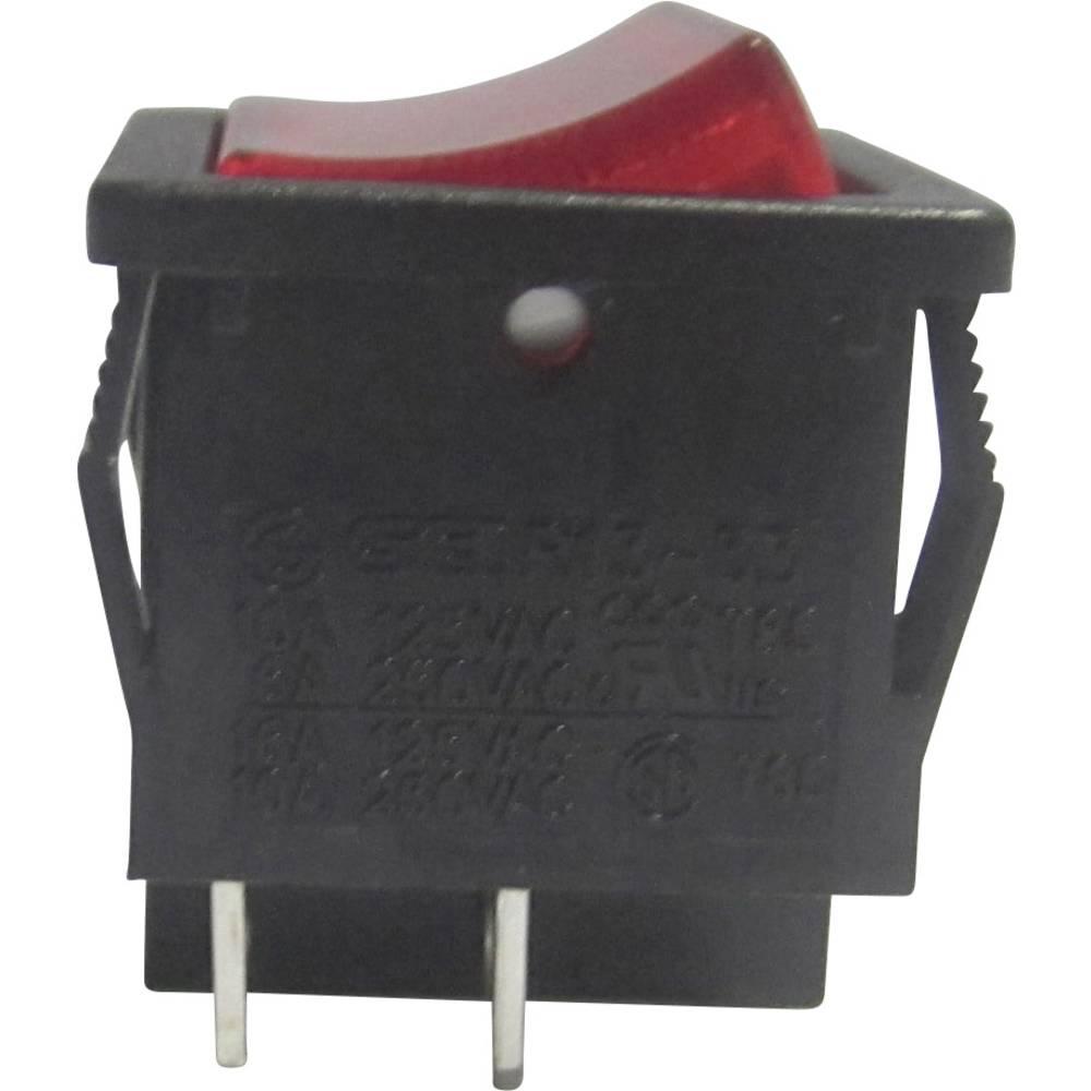 Klecno stikalo R13-33B-02 rdeče SCI vklop/izklop zaskočno/zaskočno 250 V/AC 6 A