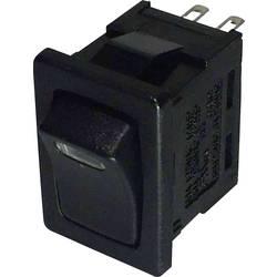 Vippströmbrytare 250 V/AC 6 A 1x Av/På SCI R13-66L-02 LED 12V/DC låsande 1 st