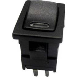 Vippströmbrytare 250 V/AC 6 A 1x Av/På SCI R13-66L-02 LED 24V/DC låsande 1 st