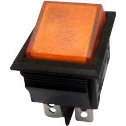 Klecno stikalo R13-69B-01 rumeno SCI 2 x vklop/izklop zaskočno/zaskočno 250 V/AC 10 A