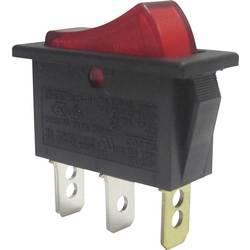 Vippströmbrytare 250 V/AC 10 A 1x Av/På SCI R13-91B-01 låsande 1 st