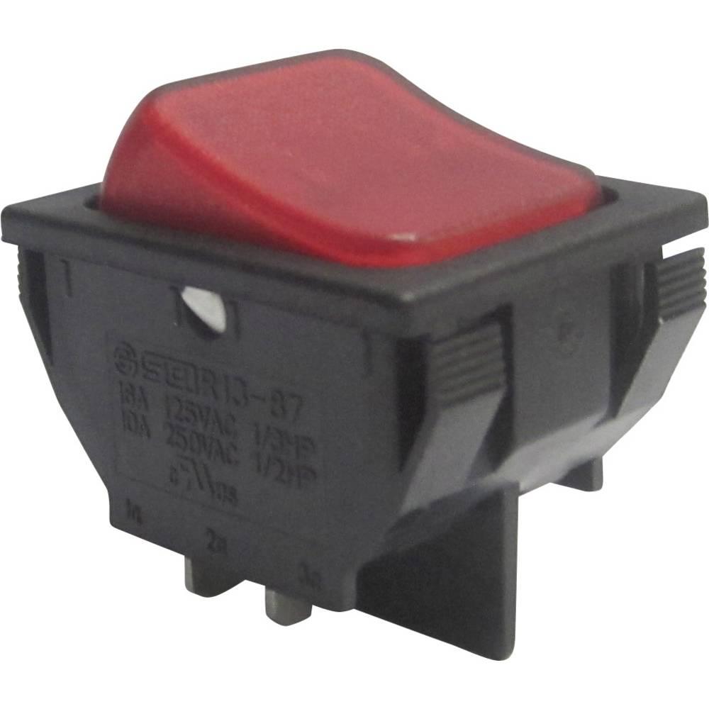 SCI Klecno stikalo, 16 A R13-87B-02 RED Vklop/izklop 250 V/AC 10 A