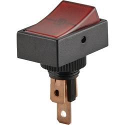 Avtomobilsko klecno stikalo 12 V/DC 20 A 1 x izklop/vklop zaskočno TRU Components TC-R13-207B2-SQ rdeče barve 1 kos