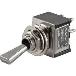 Prevesno stikalo 250 V/AC 3 A 2 x izklop/vklop TRU Components TC-TA201F1 zaskočno 1 kos
