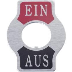 SCI Tablica z napisom za prevesno stikalo Natisnjen motiv VKLOP/IZKLOP indikatorska ploščica Ein/Aus