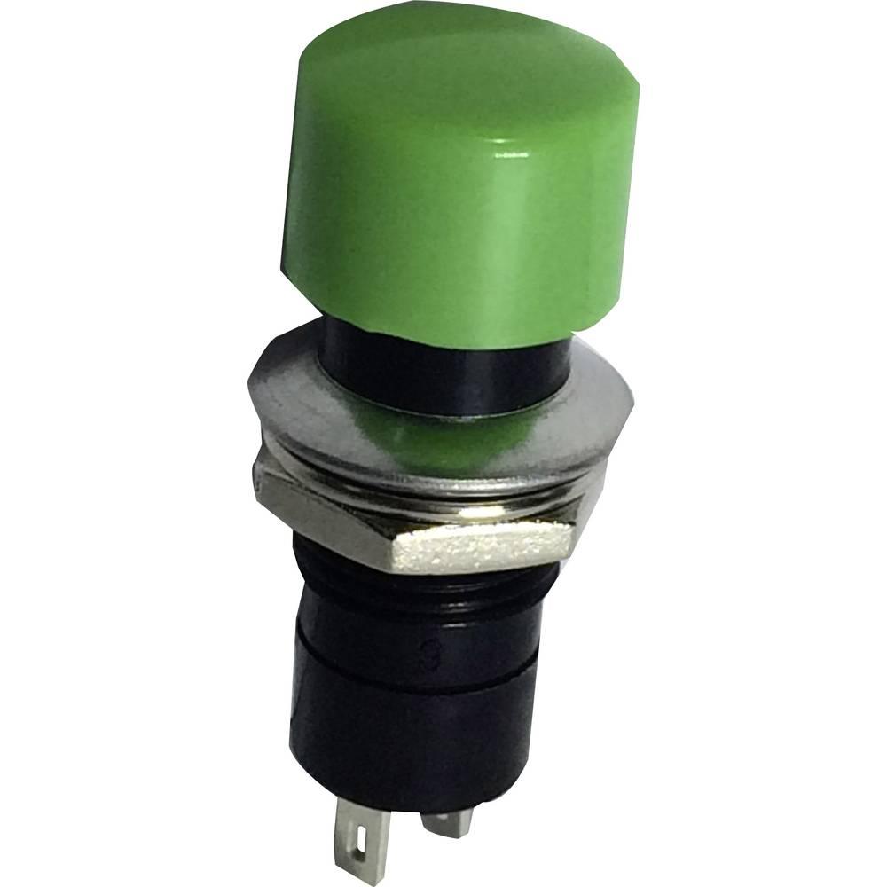 SCI Pritisno tipkalo, 3 A R13-40A-05, zeleno 1 x izklop/(vklop) 250 V/AC 1,5 A