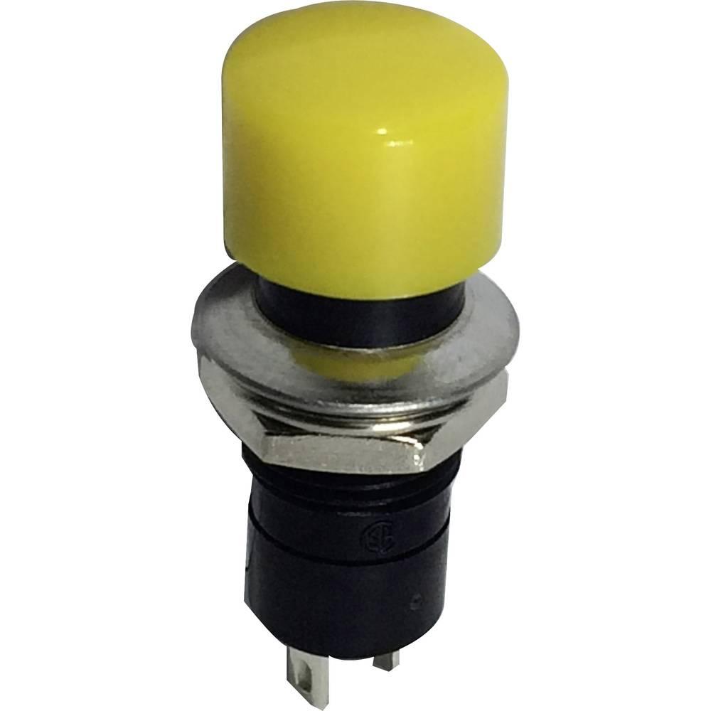 SCI Pritisno tipkalo, 3 A R13-40A-05, rumeno 1 x izklop/(vklop) 250 V/AC 1,5 A