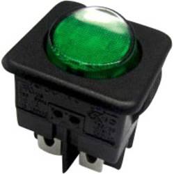 SCI Klecno stikalo, 16 A R13-104B-01 B/G GREEN Vklop/izklop250 V/AC 10 A