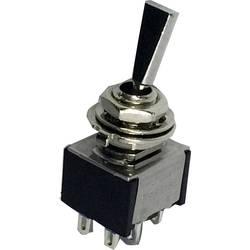 Prevesno stikalo 250 V/AC 3 A 2 x vklop/izklop/vklop TRU Components TC-TA203F1 zaskočno/0/zaskočno 1 kos