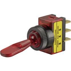Avtomobilsko prevesno stikalo 12 V/DC 20 A 1 x izklop/vklop zaskočno TRU Components TC-R13-61B ILLUMINATED rdeče barve 1 kos