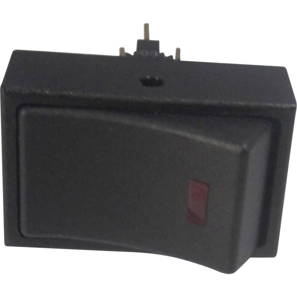 Avtomobilsko klecno stikalo 12 V/DC 20 A 1 x izklop/vklop zaskočno TRU Components TC-R13-207L-SQ rdeče barve 12V/DC 1 kos