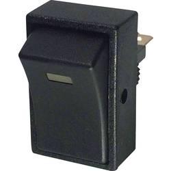 Avtomobilsko klecno stikalo 12 V/DC 20 A 1 x izklop/vklop zaskočno TRU Components TC-R13-207L-SQ YELLOW 12V/DC 1 kos